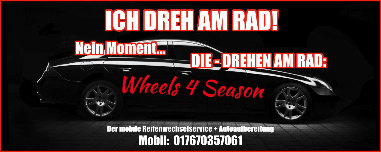 Banner Mobiler Reifenservice + Autoaufbereitung München